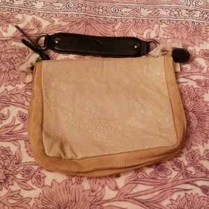 Leather, light pink small bag